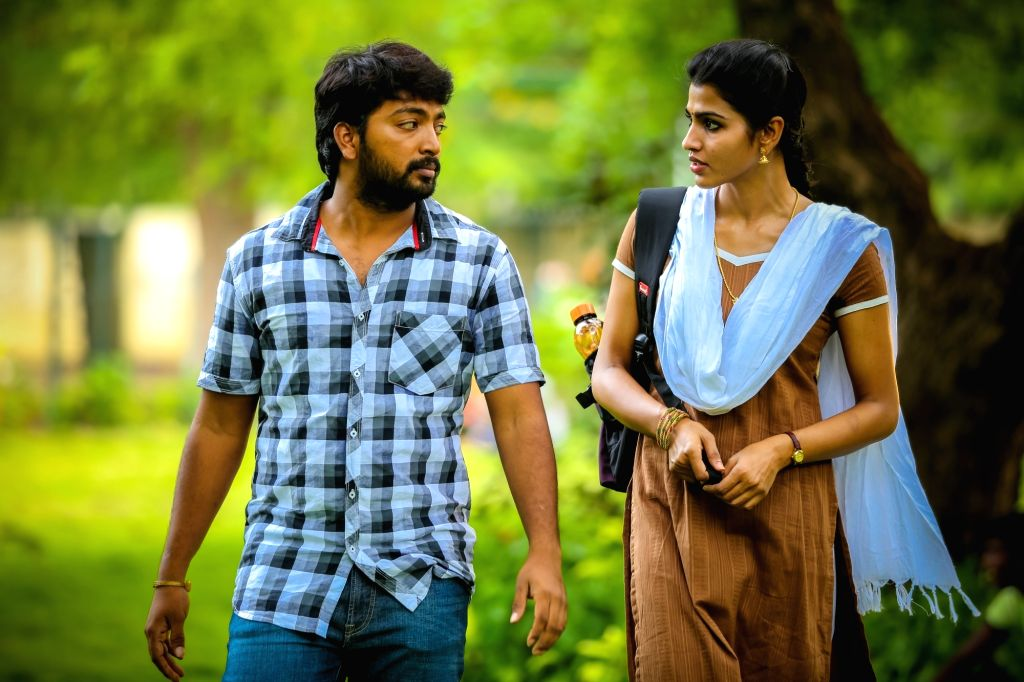 Stills from Telugu film 'Kaalakkoothu' in Hyderabad.
