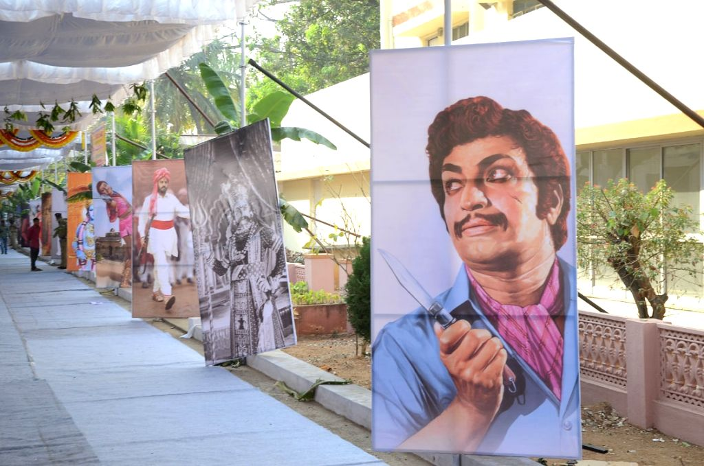 Stills from Telugu film 'NTR' in Hyderabad.
