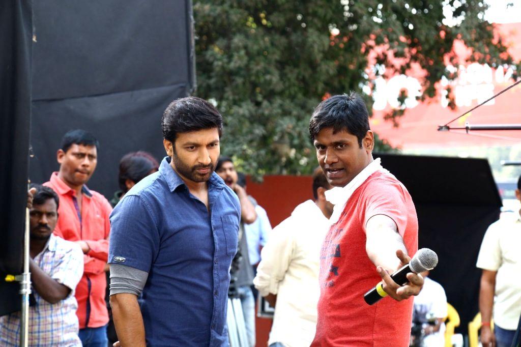 Stills from Telugu film 'Pantham' in Hyderabad.