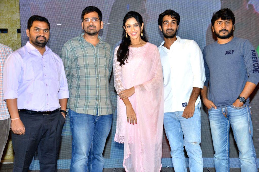 Stills from telugu film 'Paper Boy' teaser launch in Hyderabad.