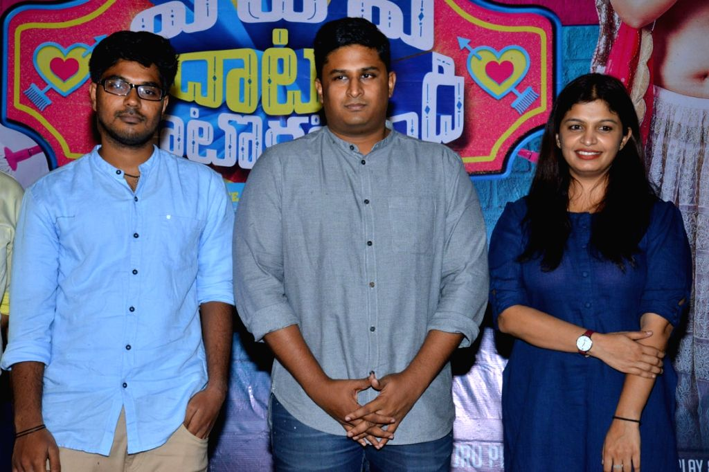 Stills from telugu film 'Pedavi Datani Matokatundi' press meet in Hyderabad.
