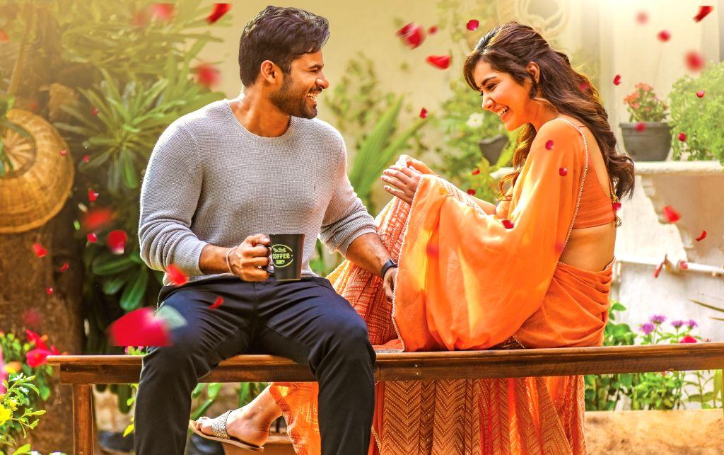 "Stills from Telugu film ""Prati Roju Pandage"" in Hyderabad."