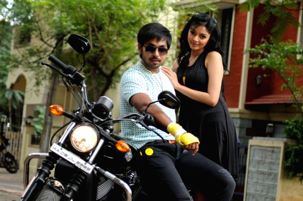 Stills from Telugu film `Premikudu`.