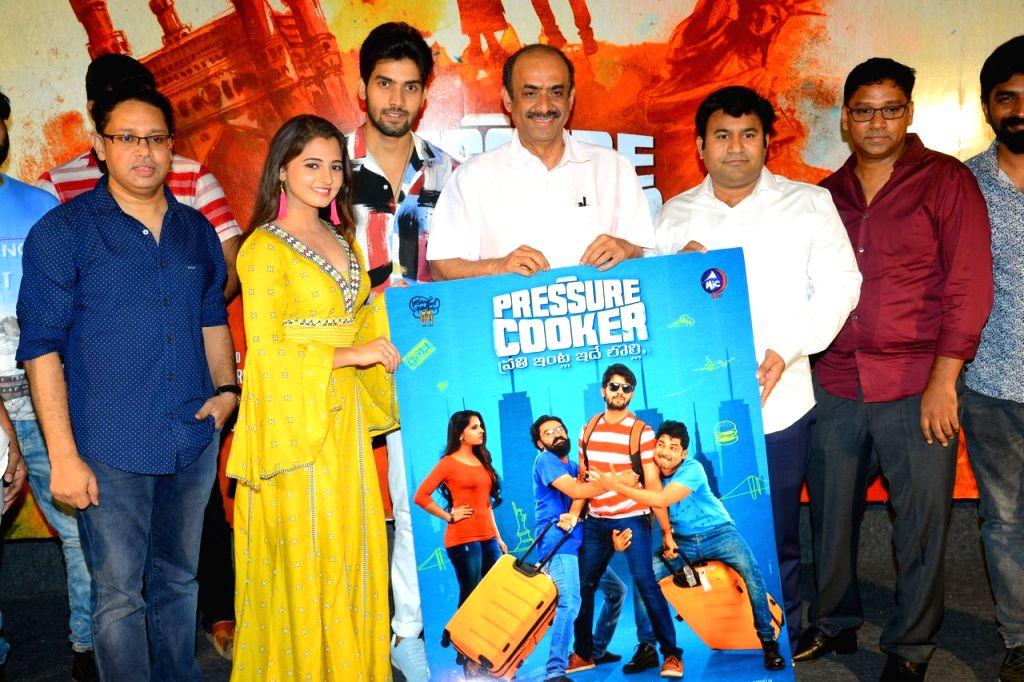 """Stills from Telugu film """"Pressure Cooker"""" Press meet in Hyderabad."""