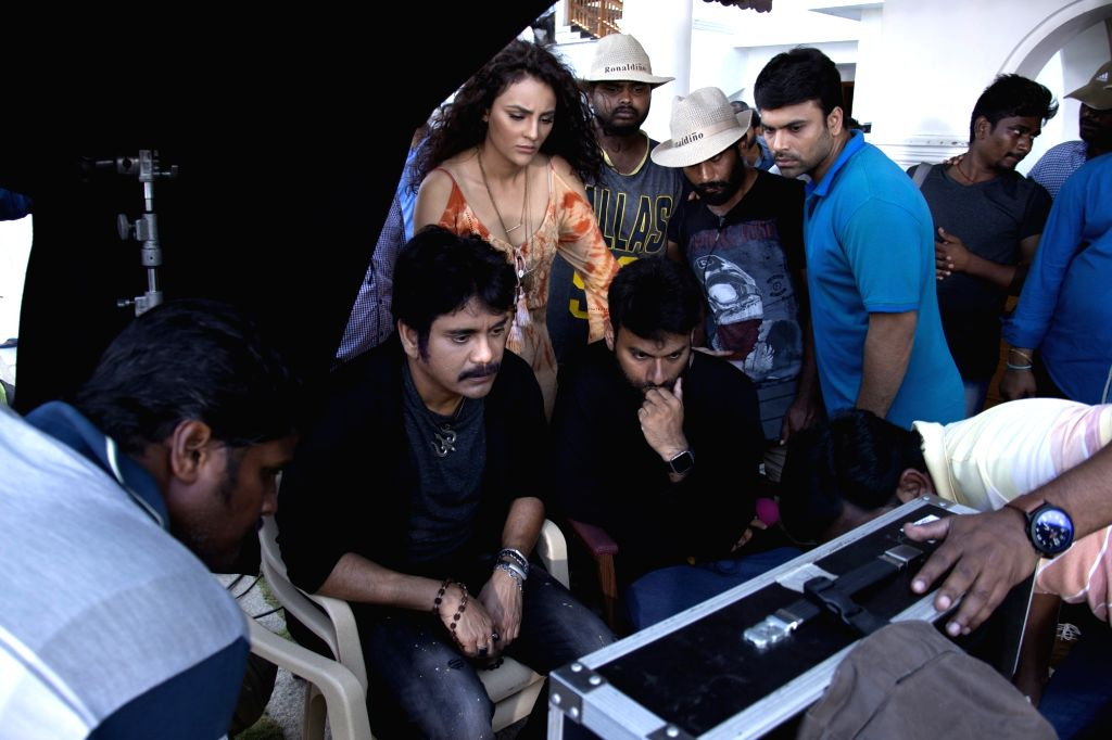 "Stills from Telugu film ""Raju Gaarigadi 2"" in Hyderabad."