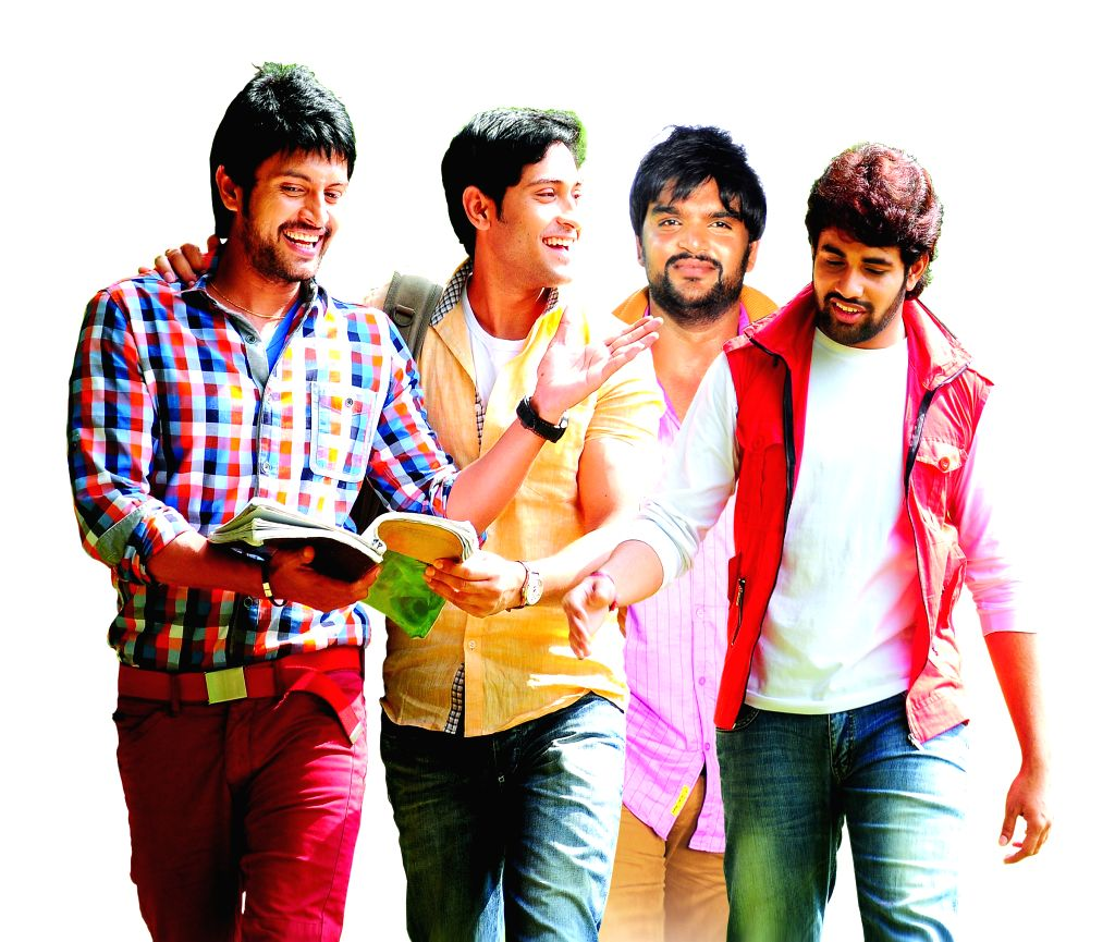 Stills from Telugu film `Simple Love Story`.