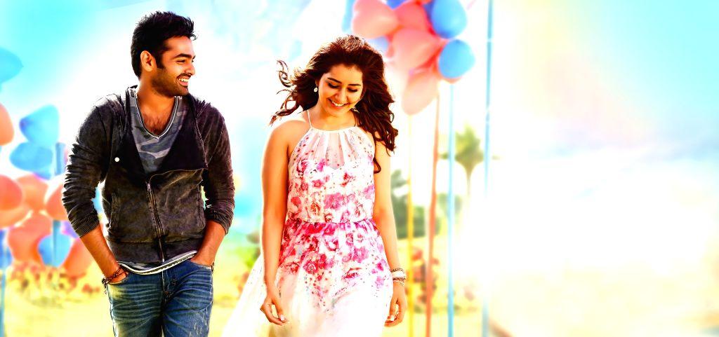Stills from Telugu film `Sivam`.
