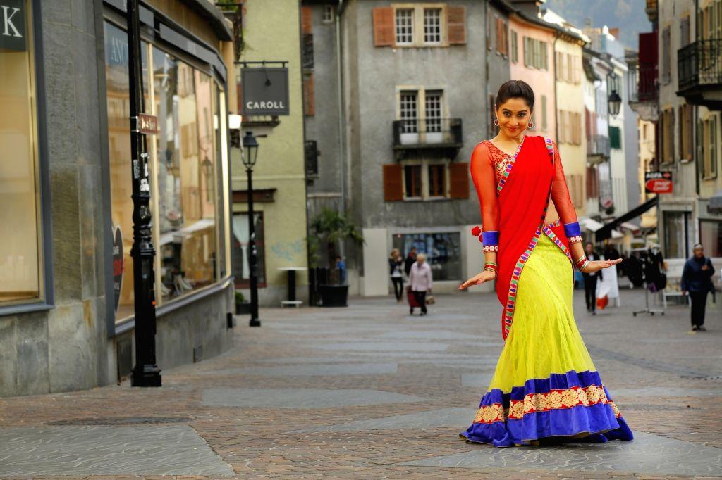Stills from Telugu film `Soukyam `.