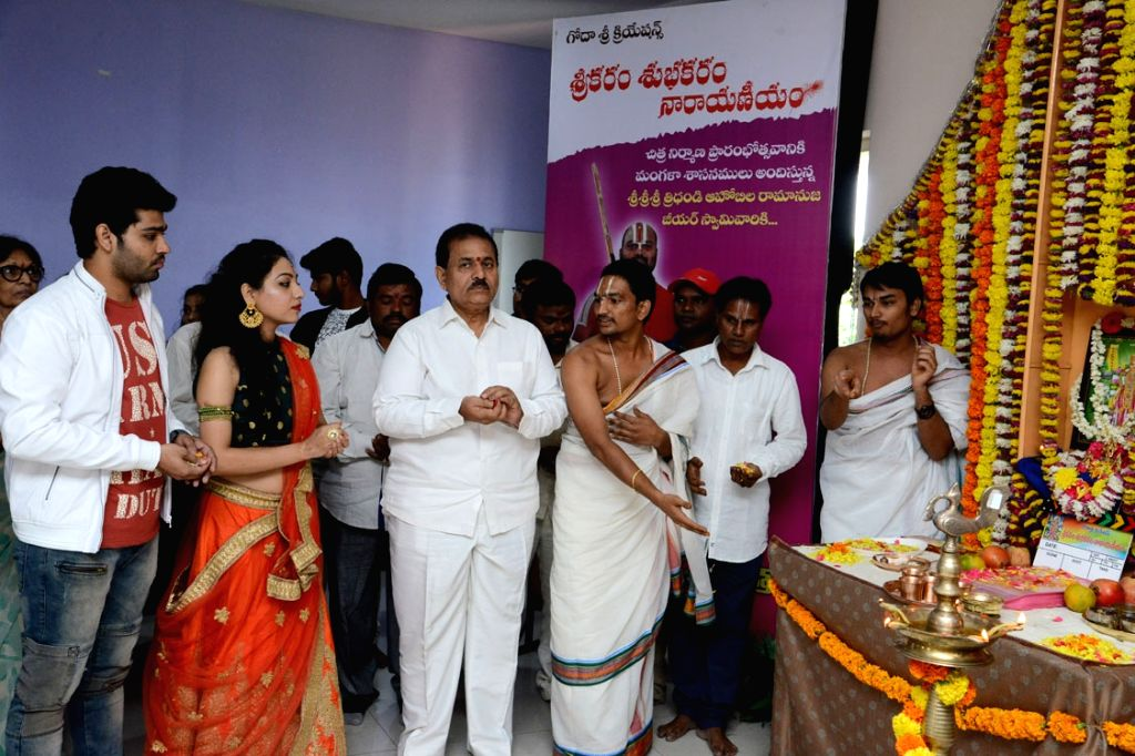"Stills from Telugu film ""Srikaram Subhakaram Narayanam"" in Hyderabad."