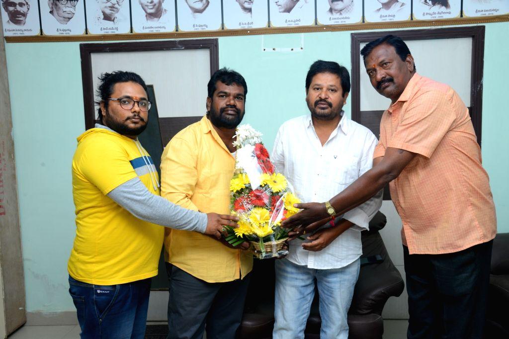 "Stills from Telugu film ""Thota Baavi"" Trailer Launch in Hyderabad."