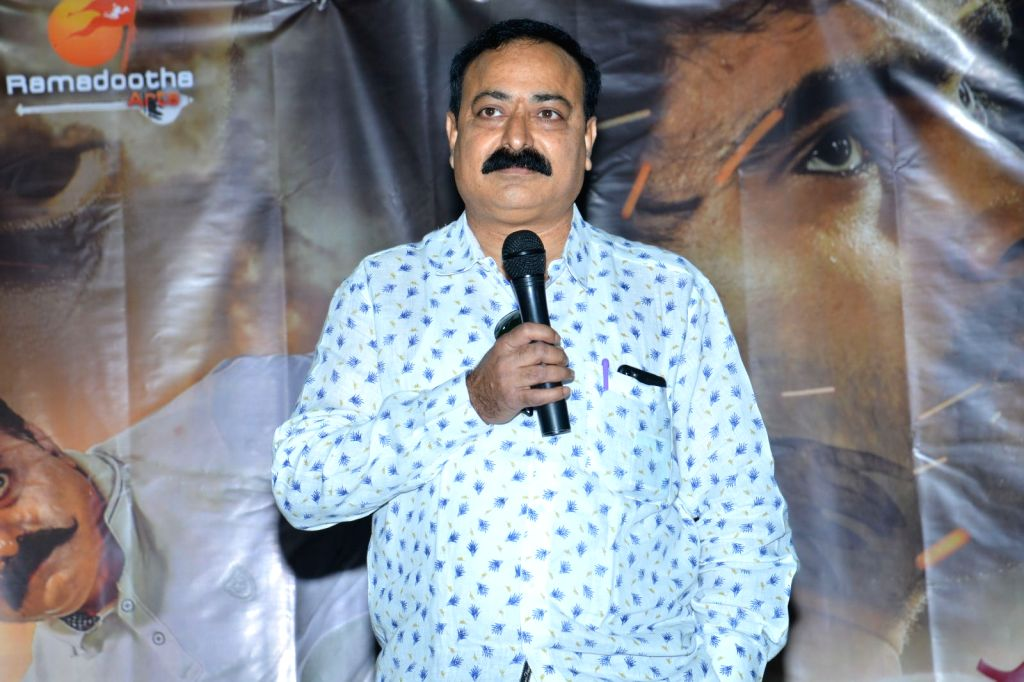 "Stills from Telugu film ""Yenthavaralaina"" Press Meet in Hyderabad."