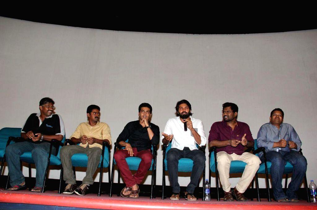Stills from the press conference of upcoming Tamil film `Amara Kaaviyam`.