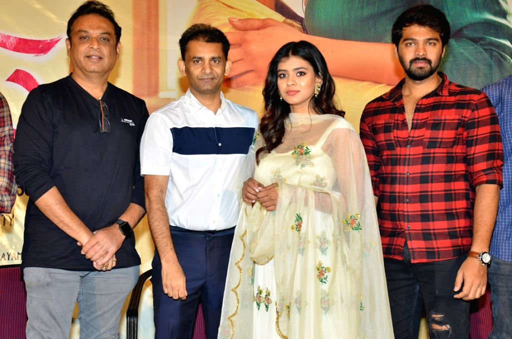 "Stills from trailer launch of film ""24 Kisses"" in Hyderabad."