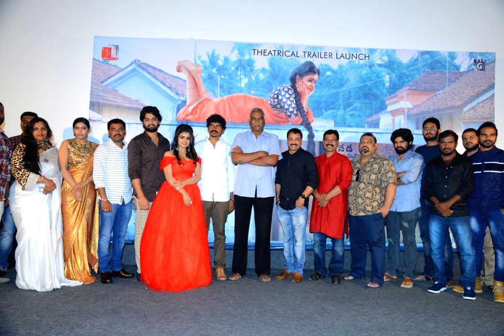 "Stills from trailer launch of film ""Uthara"" in Hyderabad."