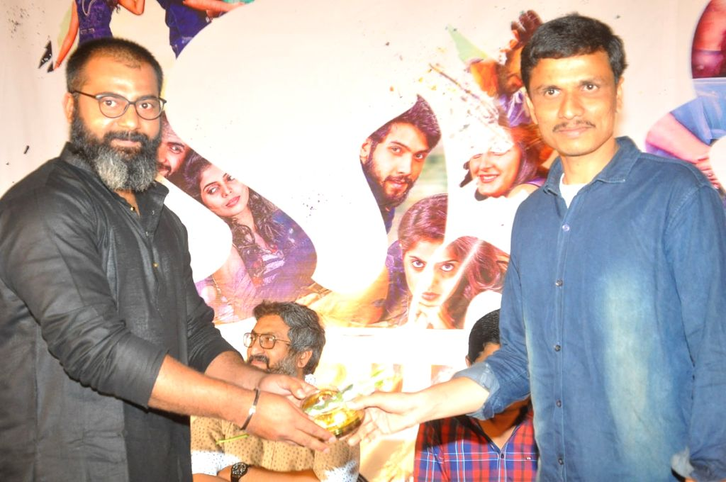 "Stills from trailer launch of his upcoming film ""Masakali"" in Hyderabad."