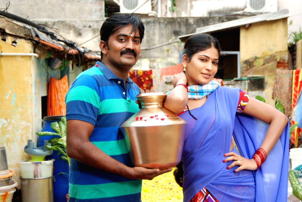 Stills from upcoming Tamil film `Aadama Jaichomada`.