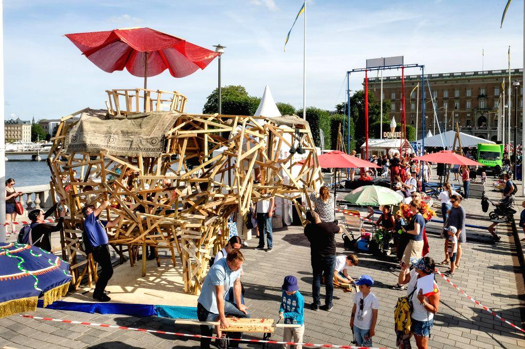 STOCKHOLM, Aug. 15, 2017 - Local people enjoy Stockholm's Culture Festival in Stockholm, capital of Sweden, on Aug. 15, 2017.