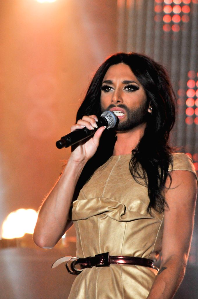 Eurovision Song Contest 2014 winner Conchita Wurst perfoms at the Stockholm Pride Week 2014 held in Stockholm, Sweden, July 30, 2014. Stockholm Pride Week 2014 ...