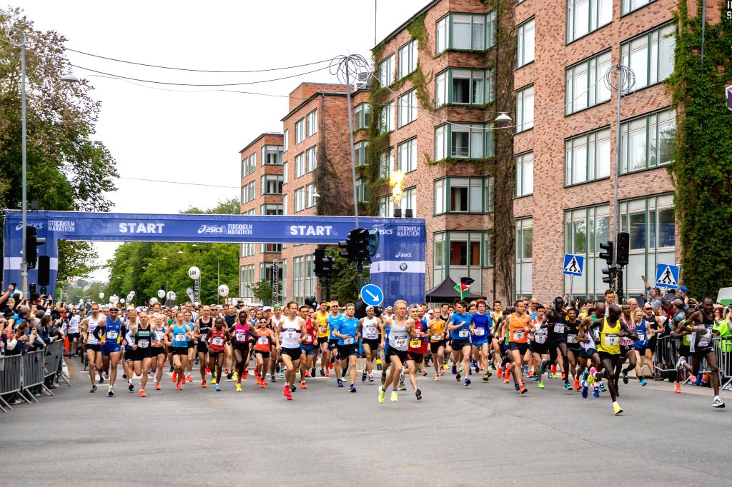 STOCKHOLM, June 2, 2019 - Runners compete during the Stockholm Marathon 2019 in Stockholm, capital of Sweden on June 1, 2019.