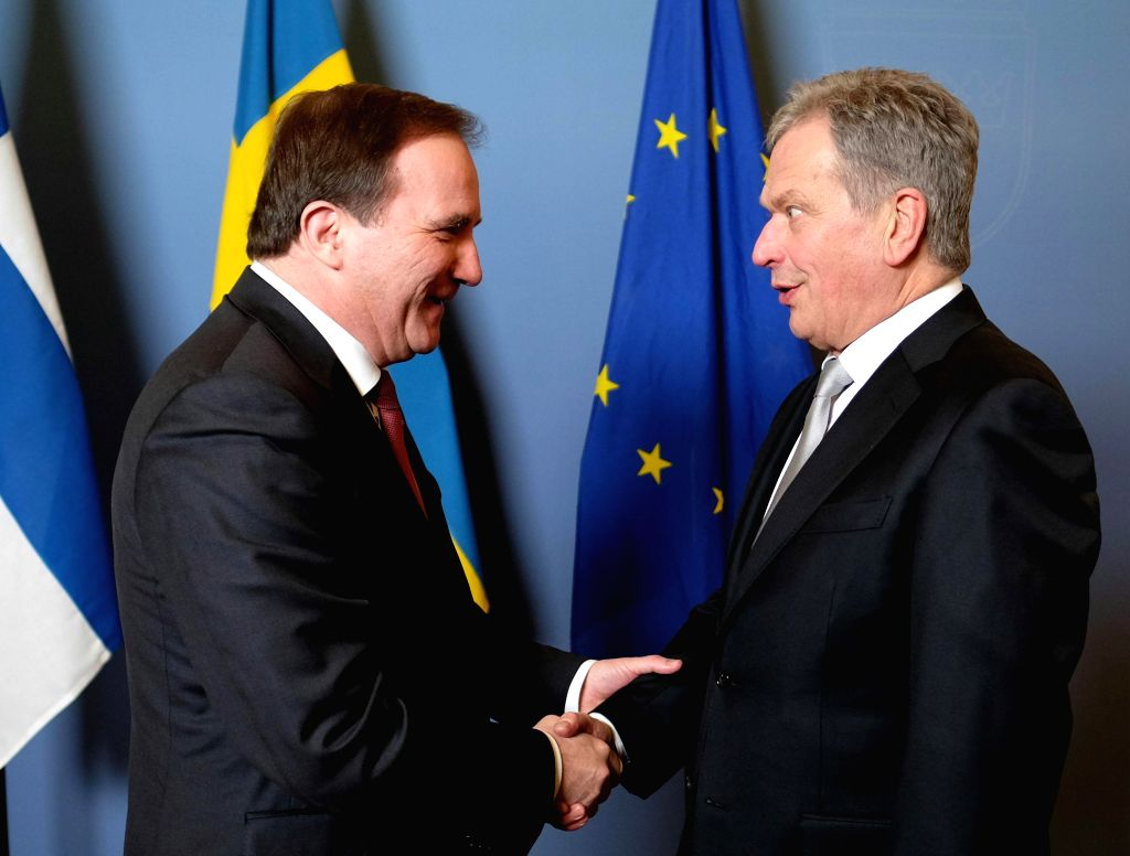 STOCKHOLM, March 14, 2017 - Swedish Prime Minister Stefan Lofven (L) meets with Finland's President Sauli Niinisto in Stockholm March 13, 2017. - Stefan Lofven
