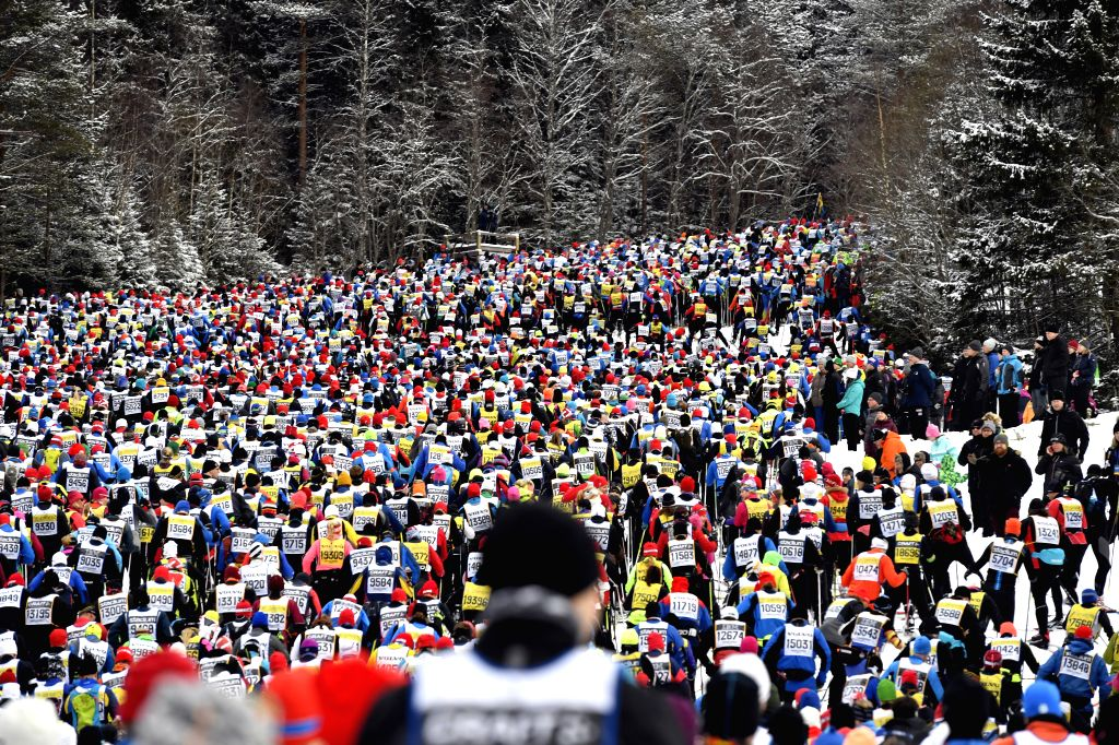 STOCKHOLM, March 6, 2017 - Competitors take part in the long distance cross country ski competition Vasloppet in the Dalarna region of central Sweden, March 5, 2017.