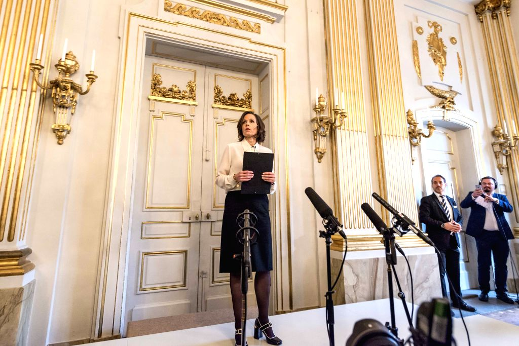 STOCKHOLM, Oct. 13, 2016 - Swedish Academy's permanent secretary Sara Danius announces the laureate of the 2016 Nobel Prize in Literature in Stockholm, Sweden, on Oct. 13, 2016. Bob Dylan has won the ...