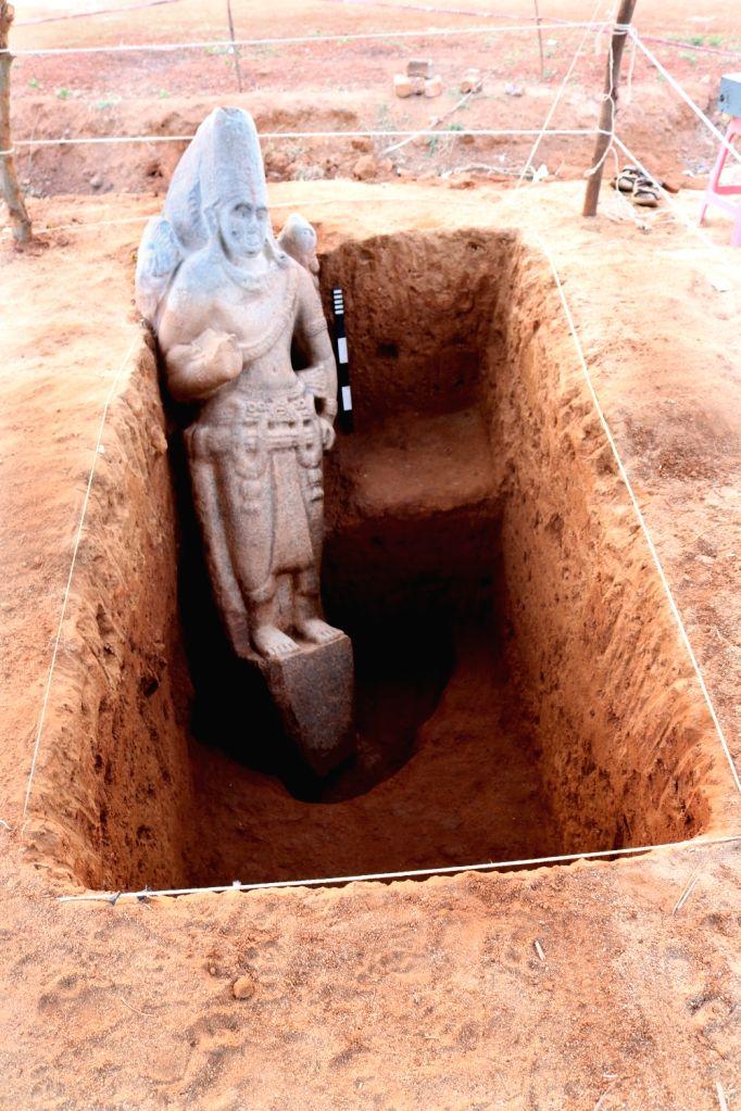 Stone Vishnu Idol - After Exposure.