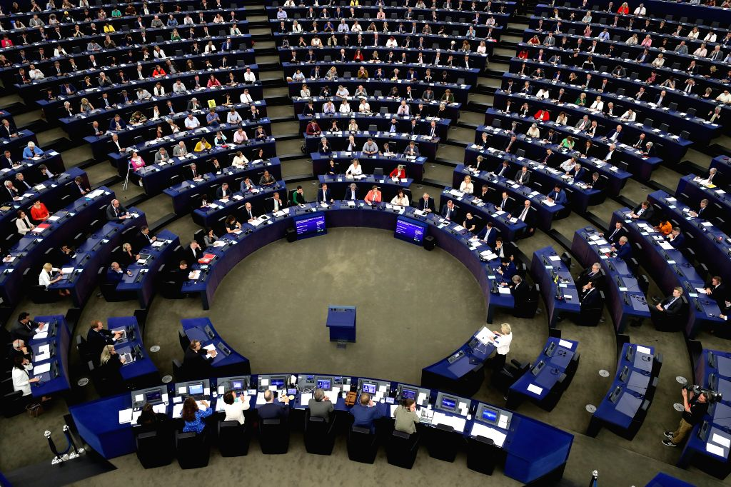 STRASBOURG, July 16, 2019 - The European Parliament holds a plenary session at its headquarters in Strasbourg, France on July 16, 2019. The European Parliament is due to vote on the nomination of ...