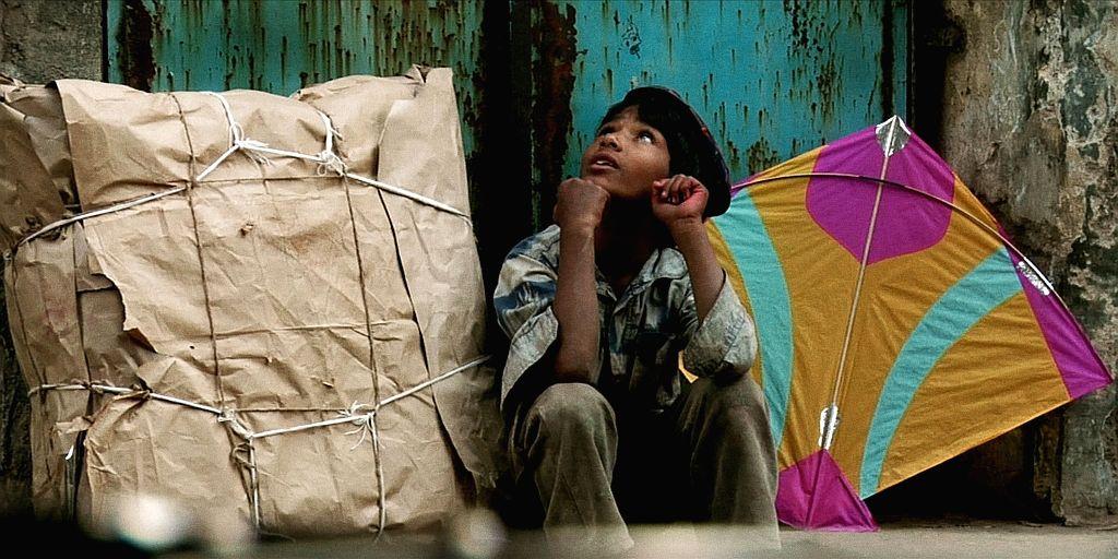 "Street kid Hamid Shaikh playing himself in Indian American director Prashant Bhargava's award-winning film ""Patang""."