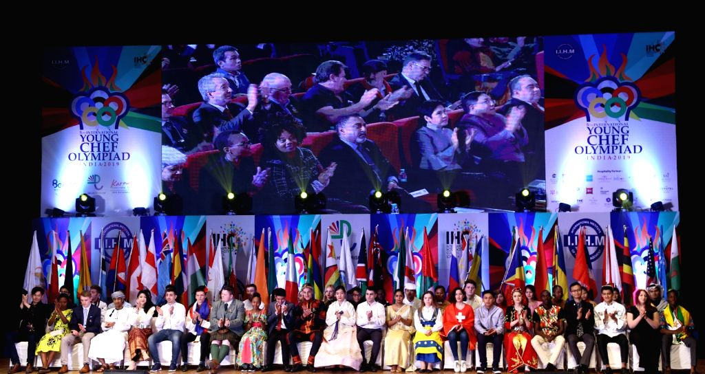 Student chefs from 50 countries at the International Young Chef Olympiad 2019,  in New Delhi on Jan 28, 2019.