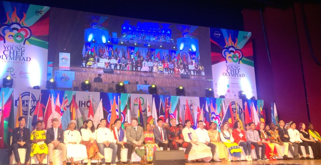 Student chefs from 50 countries, who will be competing for the winner trophy and a cash prize of USD 10,000, being welcomed at the International Young Chef Olympiad 2019, in New Delhi on ...