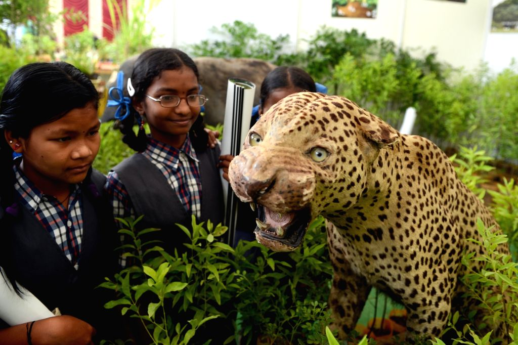 Students during the inauguration of Bio Diversity Park, in Bengaluru on July 15, 2016.