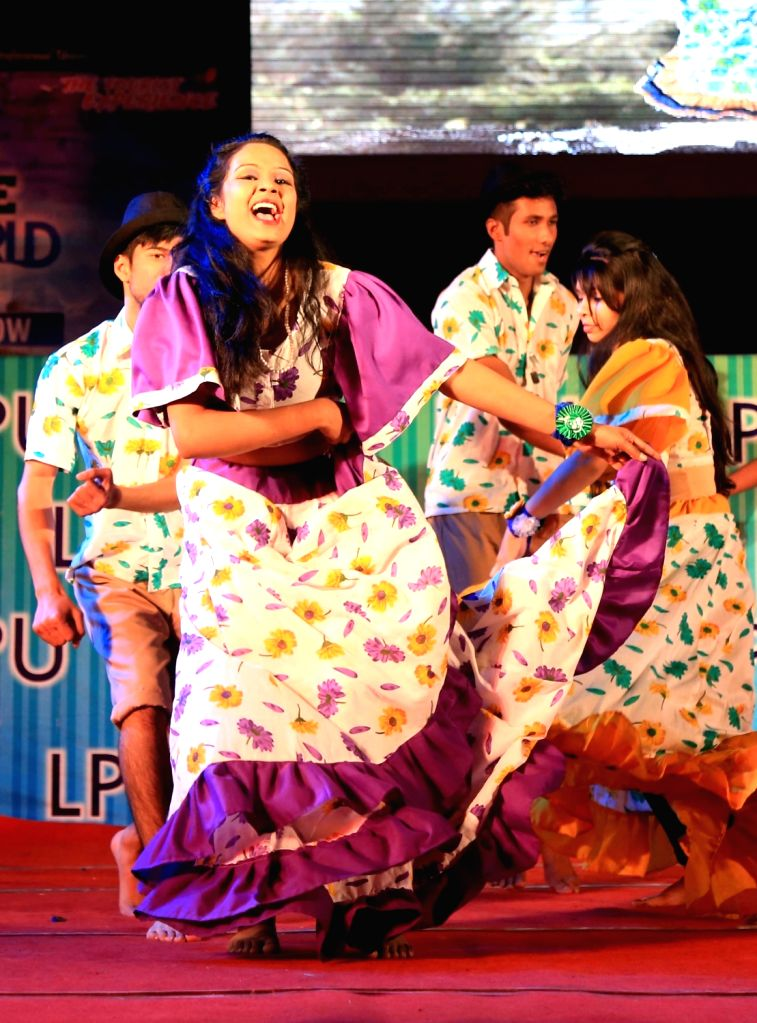 Students from different countries perform during `One World` in Jalandhar on Nov 27, 2015.