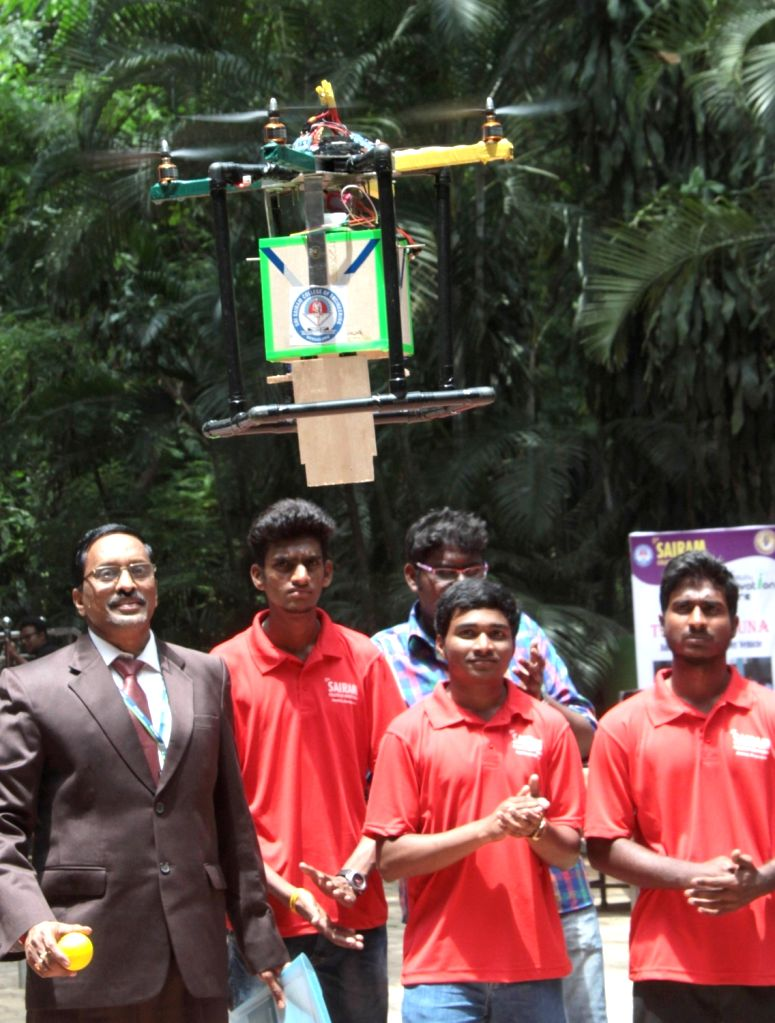 Students of a Bengaluru engineering college showcase their creation on May 25, 2017.