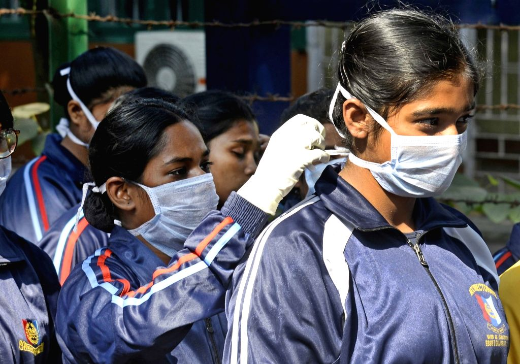 Students participate in Swachh Bharat Mission in Kolkata on Dec. 7, 2019.