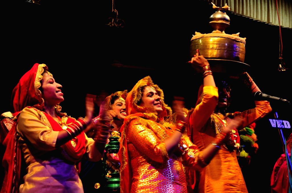 Students perform during a youth festival at Guru Nanak Dev University in Amritsar on Sept 28, 2017. - Nanak Dev University