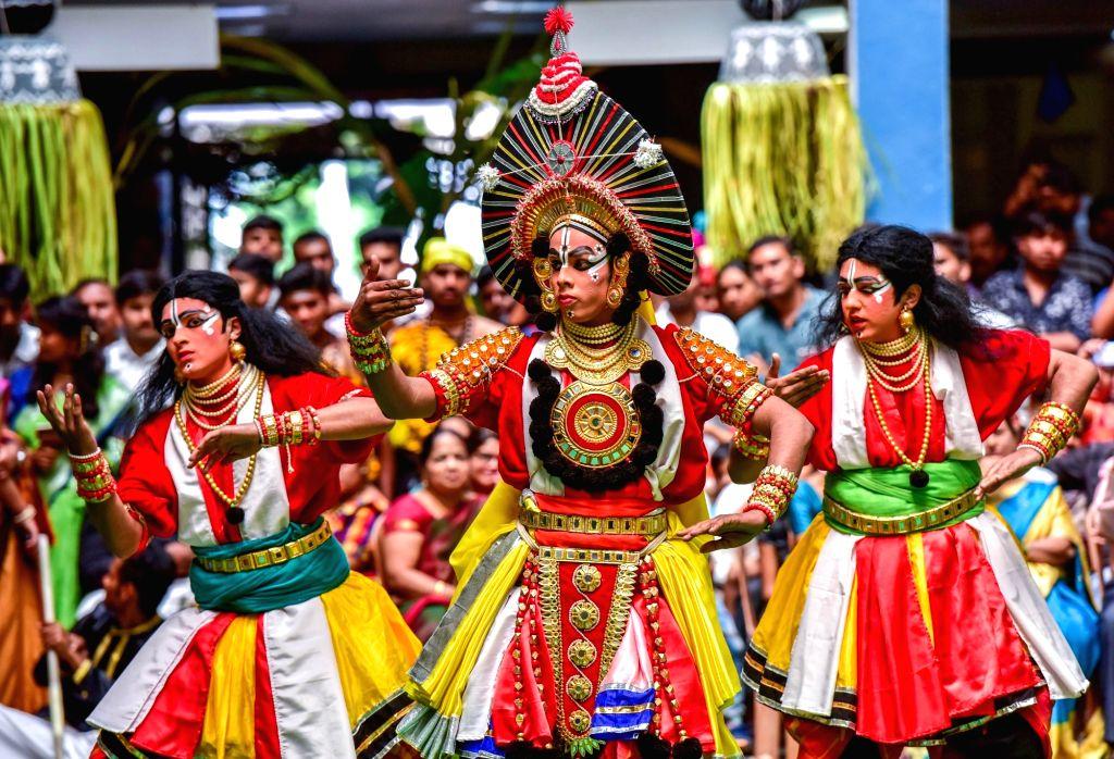"Students perform during ""Varnotsava - 2019"" in Bengaluru on Feb 23, 2019."