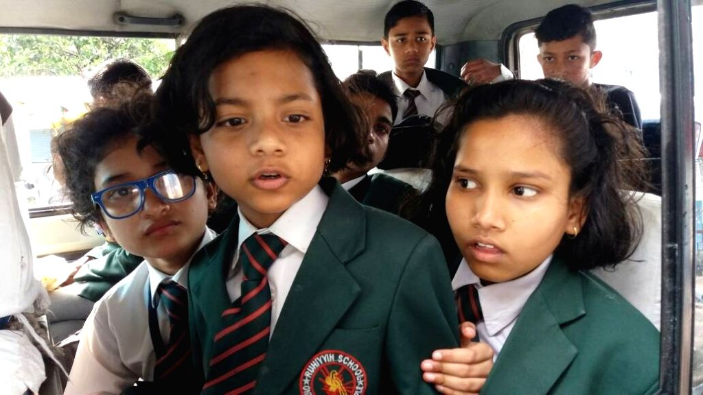 Students studying in boarding schools of Darjeeling on their way to the plains as the agitating Gorkha Janmukti Morcha (GJM) allowed a 12-hour window on June 23, 2017.