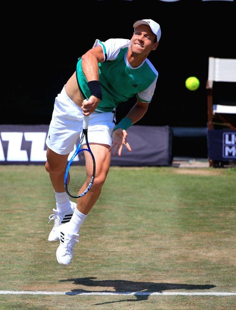 STUTTGART, June 15, 2017 - Czech's Tomas Berdych competes during a 2nd round match of Mercedes Cup tennis tournament with Australia's Bernard Tomic in Stuttgart, Germany, on June 15, 2017.
