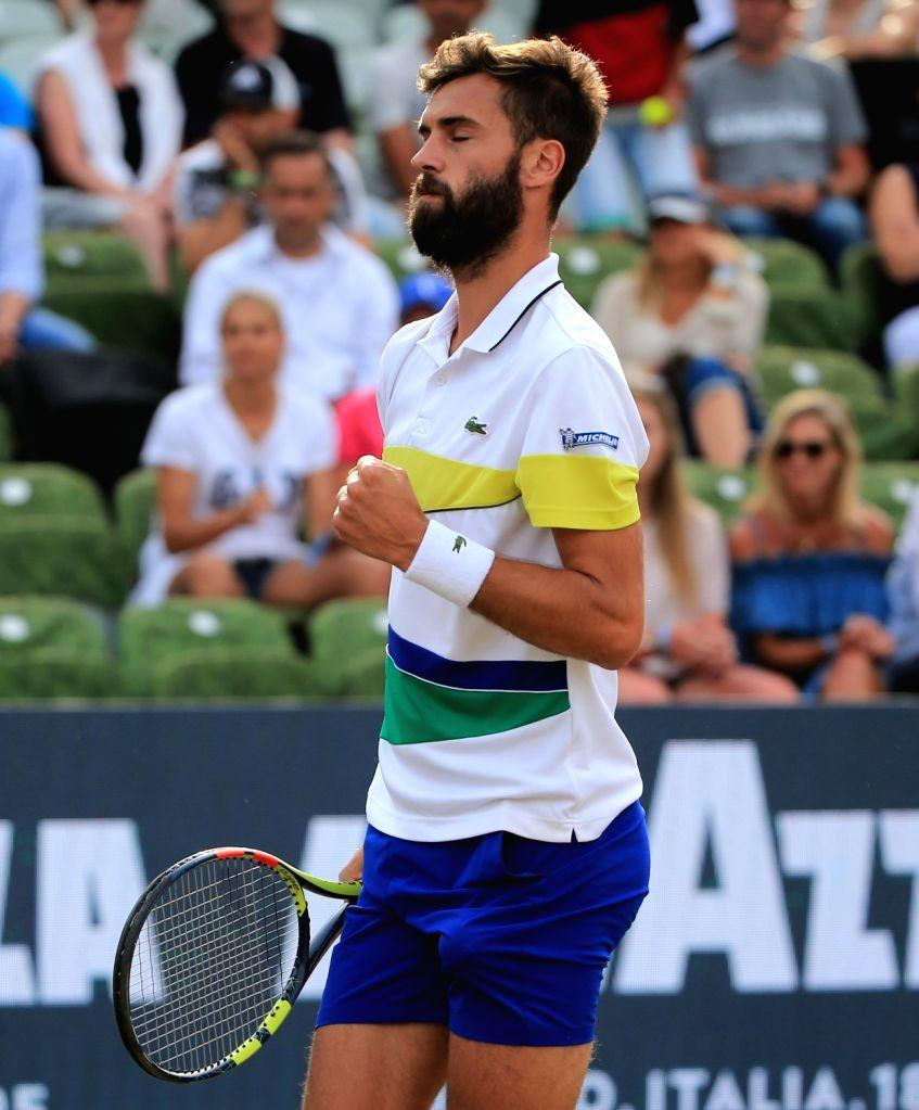 STUTTGART, June 17, 2017 - France's Benoit Paire celebtates during a quarter-final match of Mercedes Cup tennis