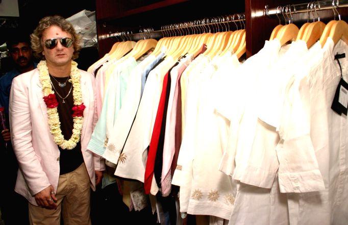 "Style Guru Rohit Bal at the opening of Aditya Birla's new Showroom ""Linen club The Ramp"", in South Delhi on Sunday 12 April 2009."