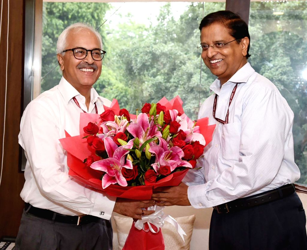 Subhash Chandra Garg takes over the charge as Secretary of the Ministry of Power from Ajay Kumar Bhalla, in New Delhi on 26 July, 2019. - Ajay Kumar Bhalla