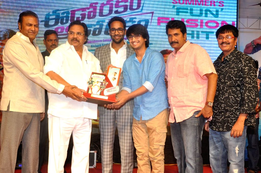 Suceses meet of Telugu film Eedo Rakam Aado Rakam in Hyderabad on 23 April, 2016.