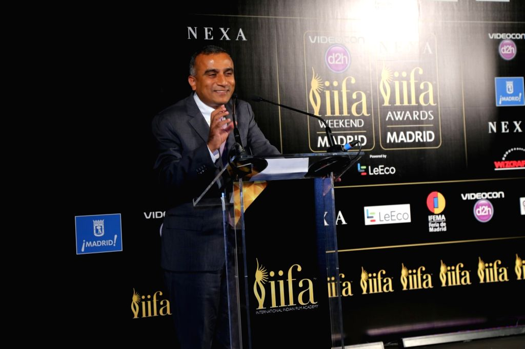 Sudhanshu Vats Group CEO - Viacom18 during the IIFA 2016 opening press conference in Madrid on June 23, 2016.