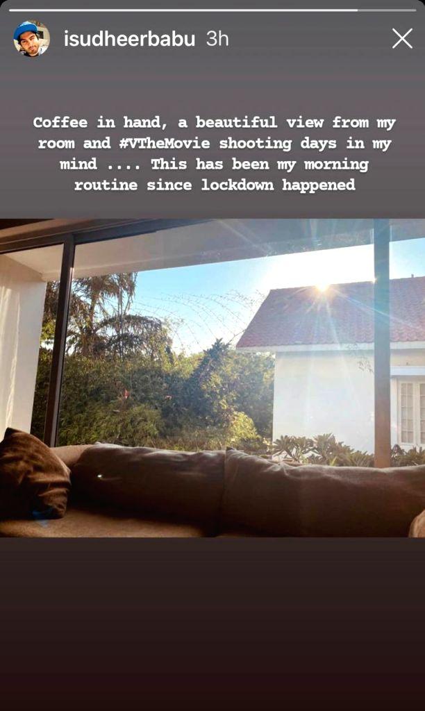 Sudheer Babu shares morning routine since 'lockdown happened'.