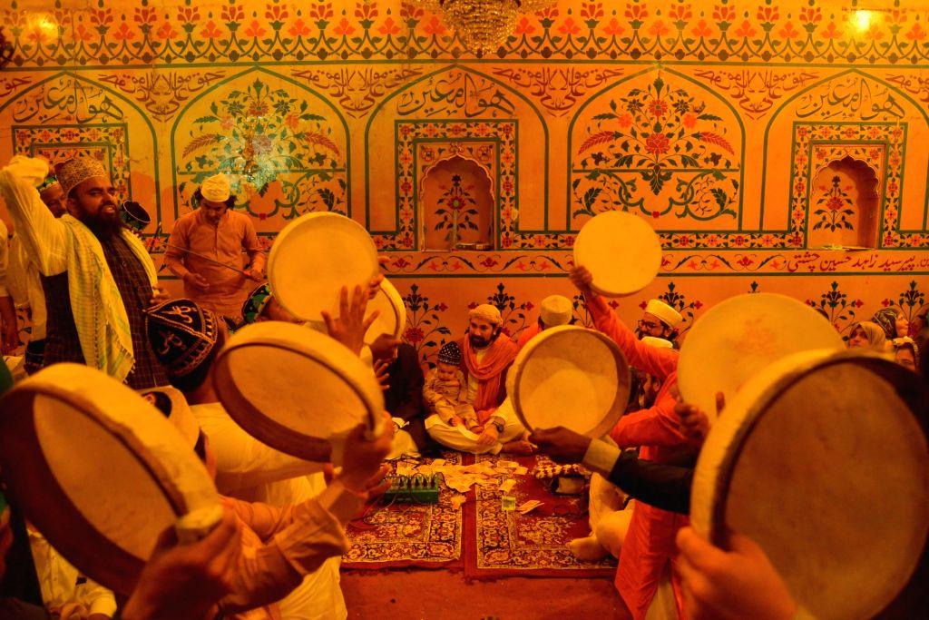 Sufi 'qawwals' perform at the Ajmer Sharif Dargah, on June 15, 2019.