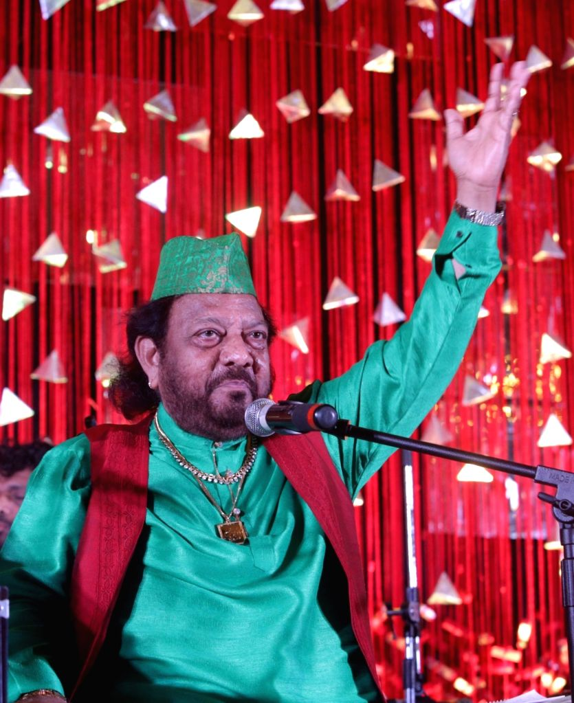 Sufi singer Ehsaan Bharti Ghungroo Wale performs during a programme in Kolkata, on June 25, 2016.