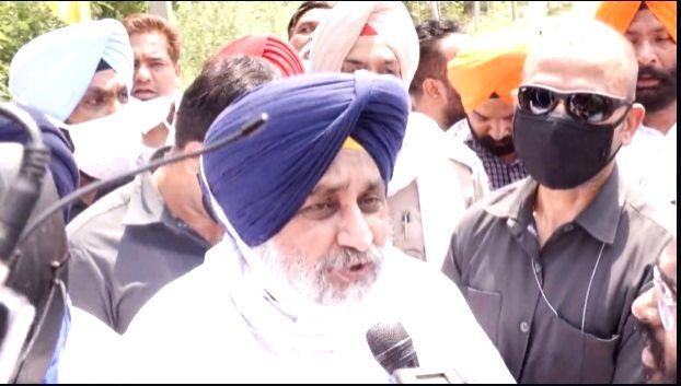 Sukhbir Badal detained for protest against scams in Punjab. - Sukhbir Badal