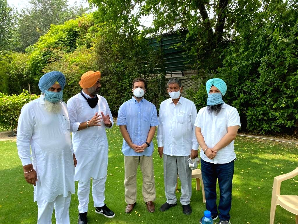 Sukhpal Singh Khaira former AAP lop in Punjab meets rahul in ND. - Sukhpal Singh Khaira