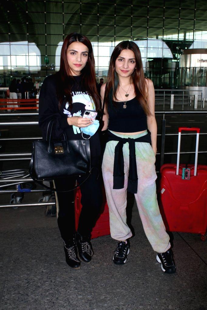 Sukriti Kakar & Prakriti Kakar Spotted At Airport Departure on Friday 26th February 2021.